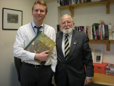 DSCN2780 Ron hands over Album to Archivist Anthony Richards.jpg